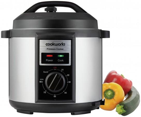 Cookworks Digital 5.5L Pressure Cooker Stainless Steel.