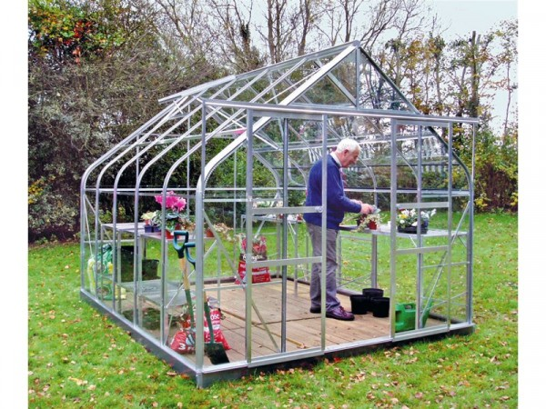 6X8 ALUMINIUM CURVED EAVE GREENHOUSE