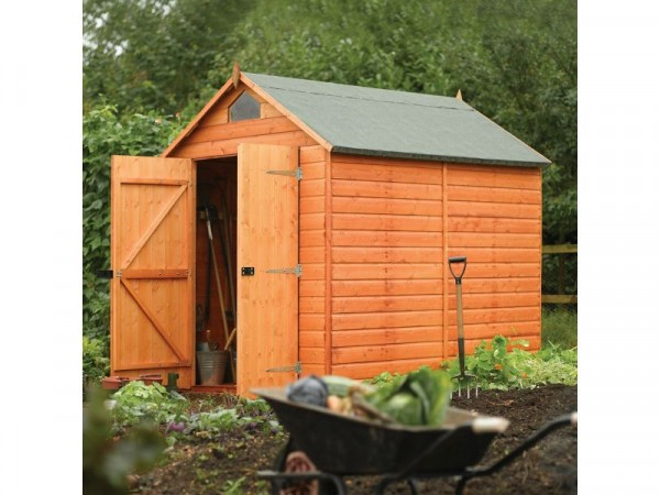 Rowlinson Wooden Security Garden Shed - 8 x 6ft