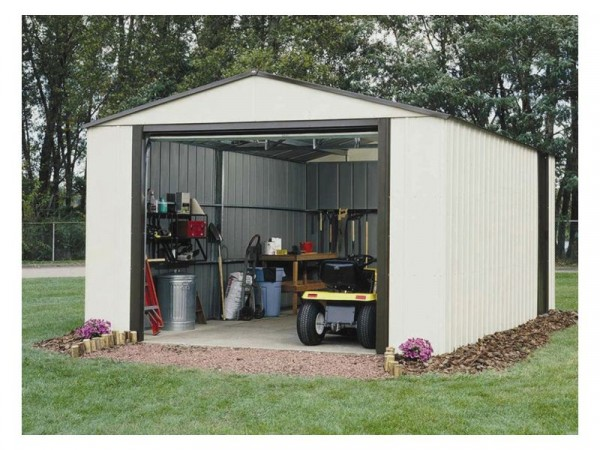 Rowlinson Murryhill Metal Garage - 12 x 31ft