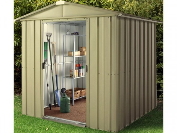 Hampton Deluxe Apex Metal Shed & Support Frame - 6 x 8ft