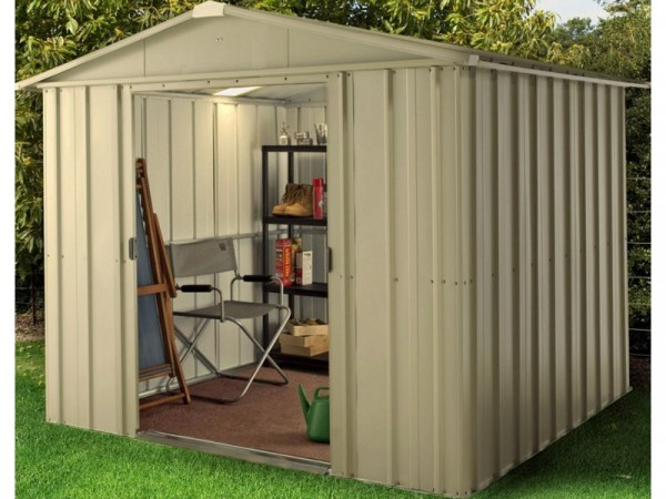 HAMPTON DELUXE APEX METAL SHED 10X7 INCL