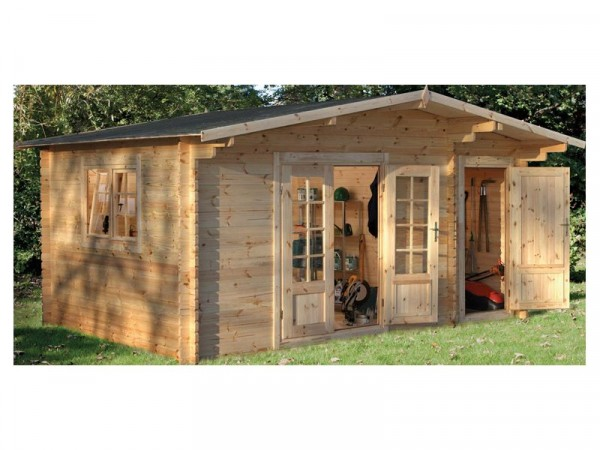 Forest Garden Wrekin Wooden Log Cabin