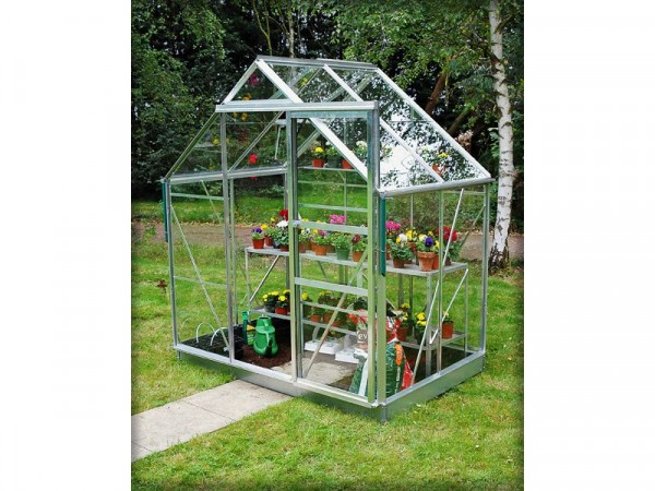 ALUMINIUM 64 GREENHOUSE N BASE WITH HORT