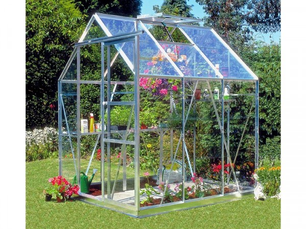 ALUMINIUM 66 GREENHOUSE N BASE WITH HORT