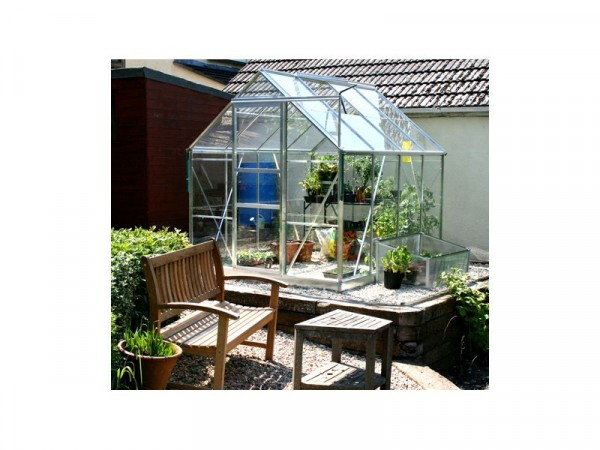 ALUMINIUM 68 GREENHOUSE N BASE WITH HORT