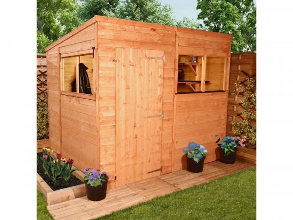 BillyOh Wooden Tongue and Groove Pent Garden Shed 8ft x 6ft