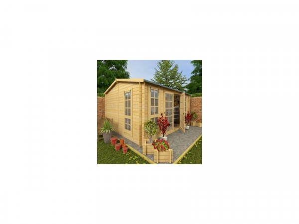 BillyOh Garden Office Wooden Log Cabin - 13 x 11ft