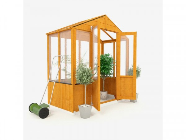 BillyOh Wooden Polycarb Greenhouse - 3 x 6ft