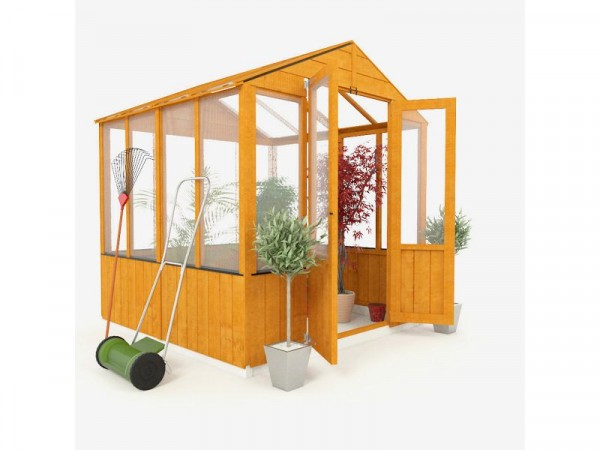 BillyOh Wooden Polycarb Greenhouse - 6 x 6ft