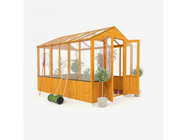 BillyOh Wooden Polycarb Greenhouse - 9 x 6ft