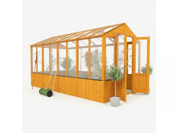 BillyOh Wooden Polycarb Greenhouse - 12 x 6ft
