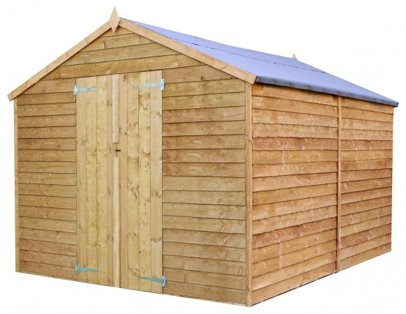 Mercia Wooden 12 x 8ft Overlap Windowless Shed
