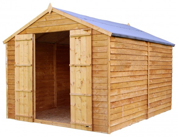 Mercia Wooden 10 x 8ft Overlap Windowless Shed