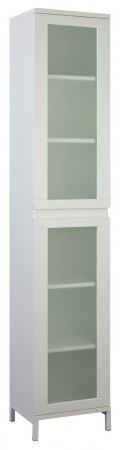 Argos Home Ice 2 Door Bathroom Tall Cabinet - White
