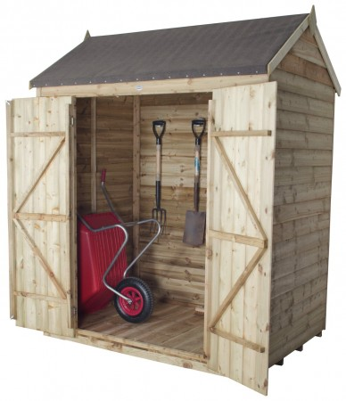 Forest Overlap Pressure Treated Reverse Apex Shed - 6 x 4ft