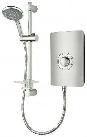 Triton Collection II 8.5kW Brushed Steel Electric Shower
