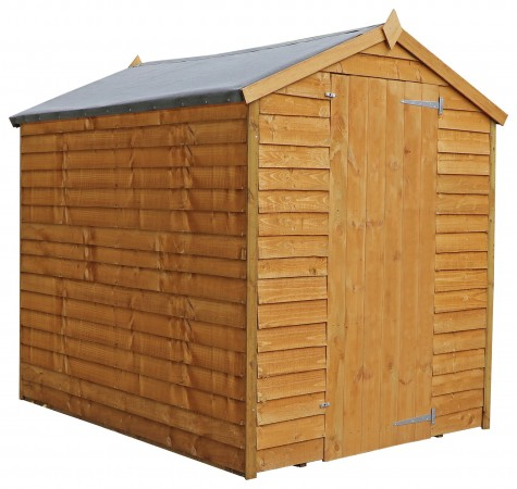 Mercia Wooden 7 x 5ft Overlap Windowless Shed