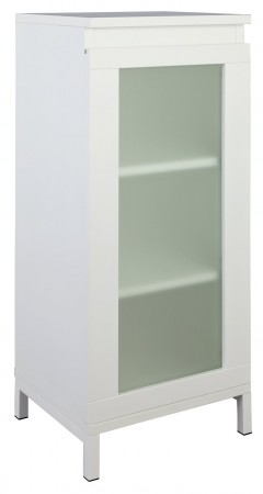 Argos Home Ice 1 Door Floor Cabinet - White