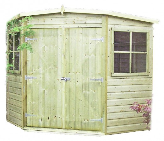 Homewood Pressure Treated Corner Shed 8 x 8ft
