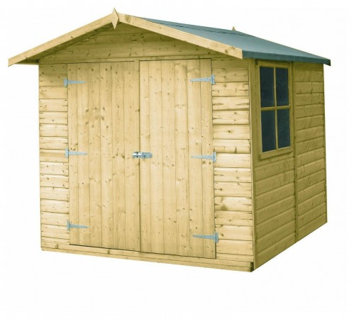 Homewood Pressure Treated Apex Double Door Shed  7 x 7ft