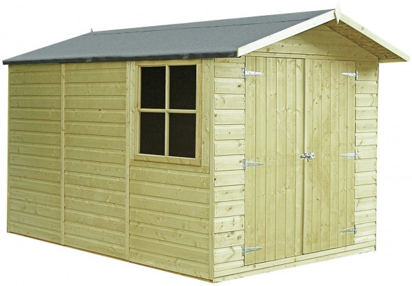 Homewood Wooden 10 x 7ft Pressure Treated Apex Shed