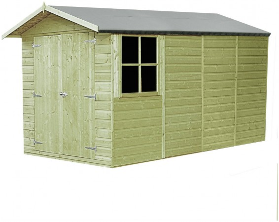 Homewood Pressure Treated Apex Shed 13 x 7ft