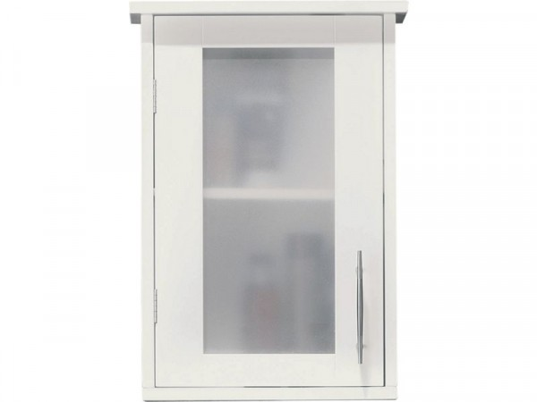 Hygena Frosted Insert Bathroom Wall Cabinet - White
