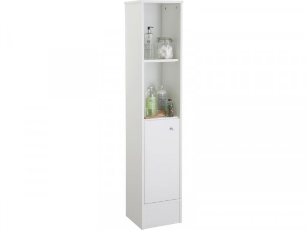 HOME Malibu Tall Bathroom Cabinet - White