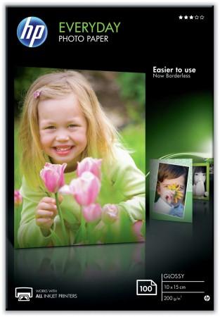 HP E-DAY PHOTO GLOSS PAPER 10X15CM 100SH