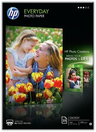 HP E-DAY PHOTO GLOSS PAPER A4 25SHEETS