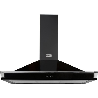 Stoves 1100 RICH 110cm Cooker Hood with Rail - Black