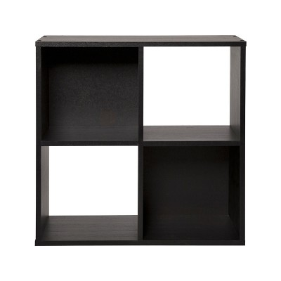 Argos Home Squares 4 Cube Storage Unit - Black