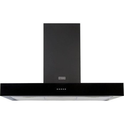 Stoves 1100 STERLING 100cm Flat Cooker Hood - Black