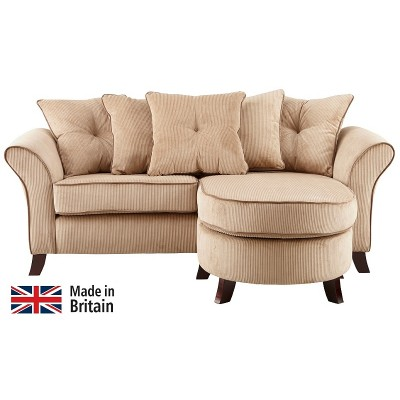 Collection Daisy Movable Corner Sofa - Mink with Coffee