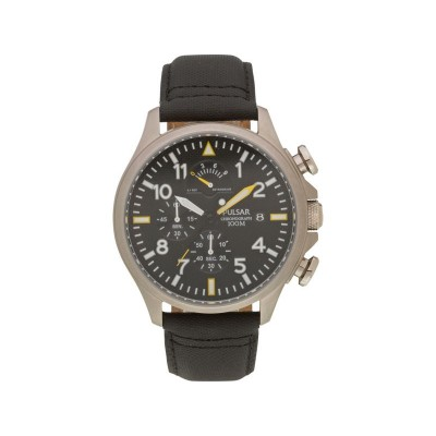 Pulsar Men's Black Chronograph Watch