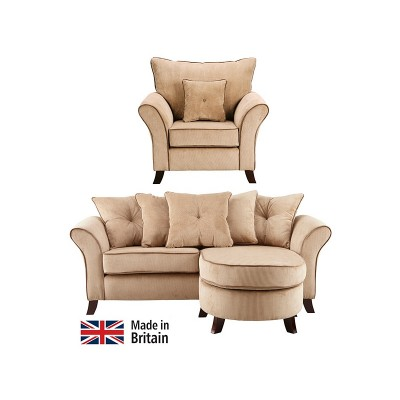 Collection Daisy Movable Corner Sofa and Chair - Mink