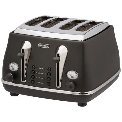 De'Longhi CTOM4003BLK Micalite 4 Slice Toaster - Black
