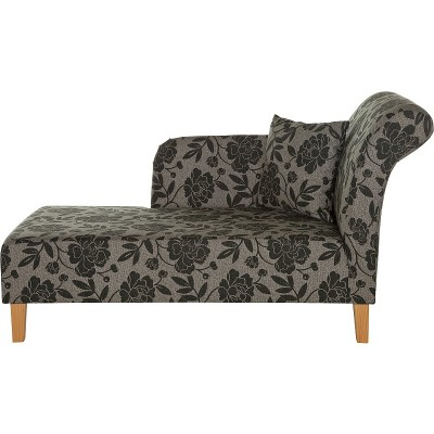HME FLORAL CHAISE CHARCOAL