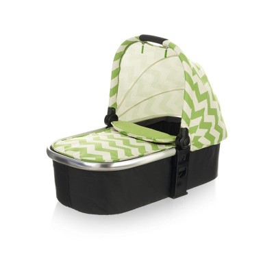 OBABY CHASE CARRYCOT  ZIGZAG LIME