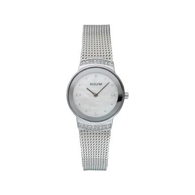 Accurist Ladies Silver Mesh Strap Watch