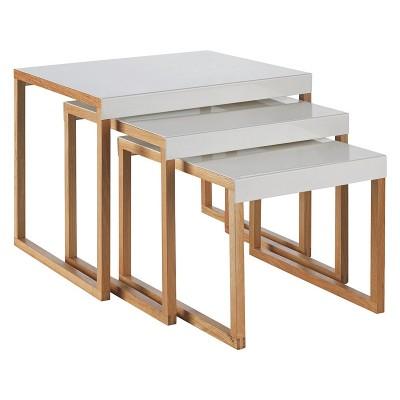 Habitat Kilo Nest of 3 Tables - White