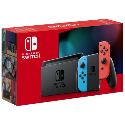 Nintendo Switch Console - Neon with improved battery