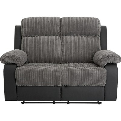 Argos Home Bradley 2 & 3 Seater Recliner Sofa - Charcoal