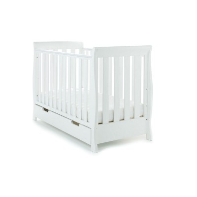 Obaby Lincoln Mini Sleigh Cot Bed - White
