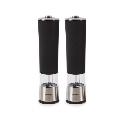Tower Electric Salt and Pepper Mill Twin Pack