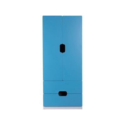 Tolga 2 Drawer 2 Door Wardrobe - Blue.