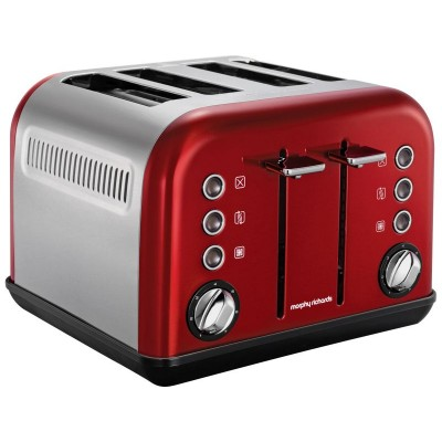 M RICHARDS ACCENTS RED 4 SLICE TOASTER