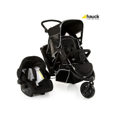 Hauck Freerider Shop'N'Drive Travel System - Black
