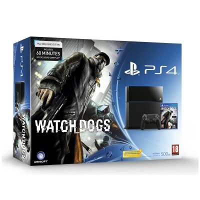 PS4 500Gb Console And Watch_Dogs Game